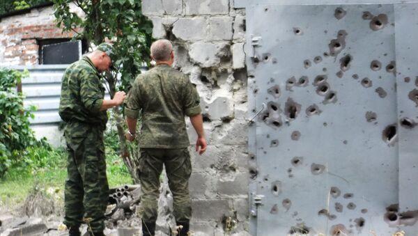 Skutki ostrzału Doniecka - Sputnik Polska