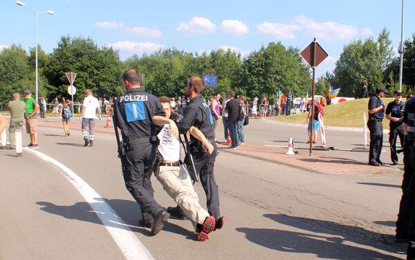 Demonstracja przeciwko amerykańskiej bazie Ramstein - Sputnik Polska