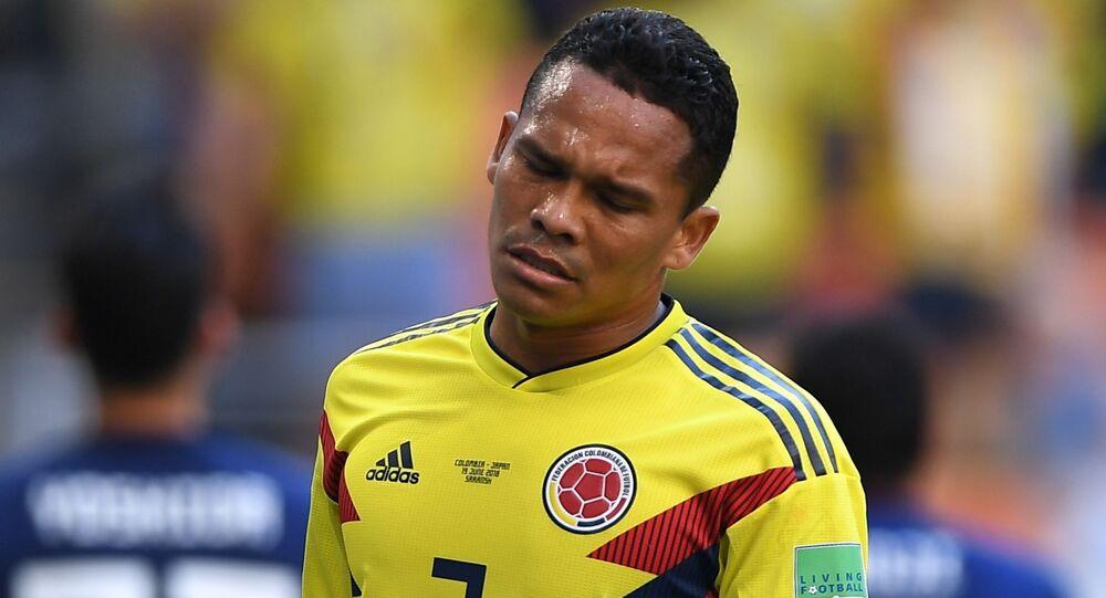 Piłkarz kolumbijskiej reprezentacji Carlos Bakka