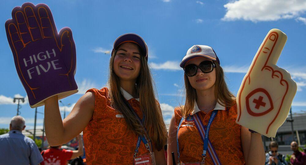 Wolontariusze mistrzostw świata w piłce nożnej