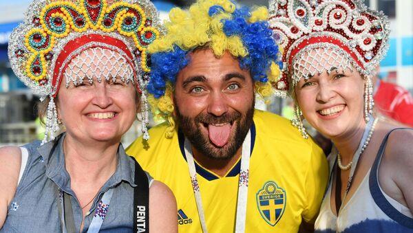 Kibice na meczu Niemcy - Szwecja - Sputnik Polska