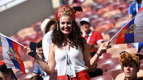 Rosjanka na meczu z Hiszpanią - Sputnik Polska