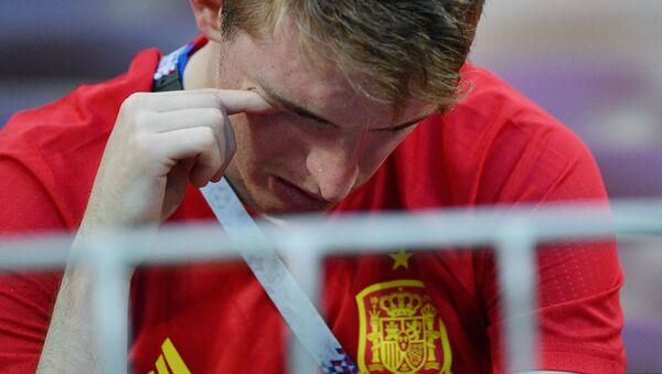 Hiszpański kibic po meczu Rosja-Hiszpania - Sputnik Polska