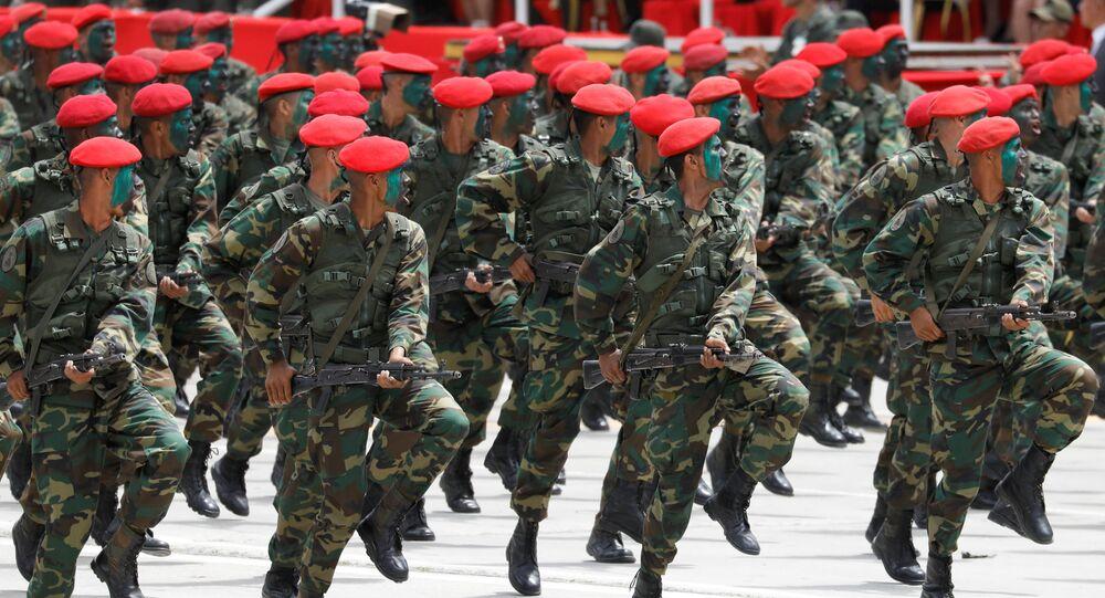 Defilada wojskowa na cześć 206. rocznicy niepodległości Wenezueli