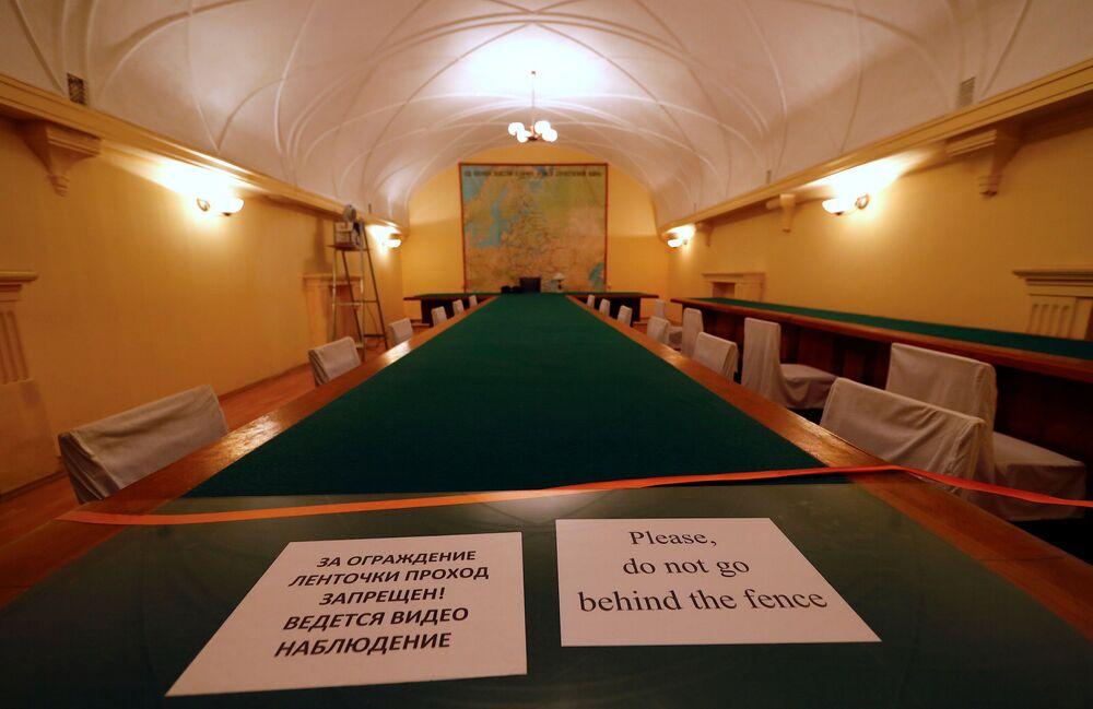 Sala konferencyjna w Bunkrze Stalina