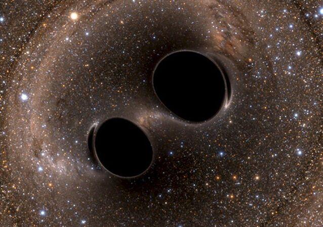 Fale grawitacyjne wygenerowane przez dwie czarne dziury