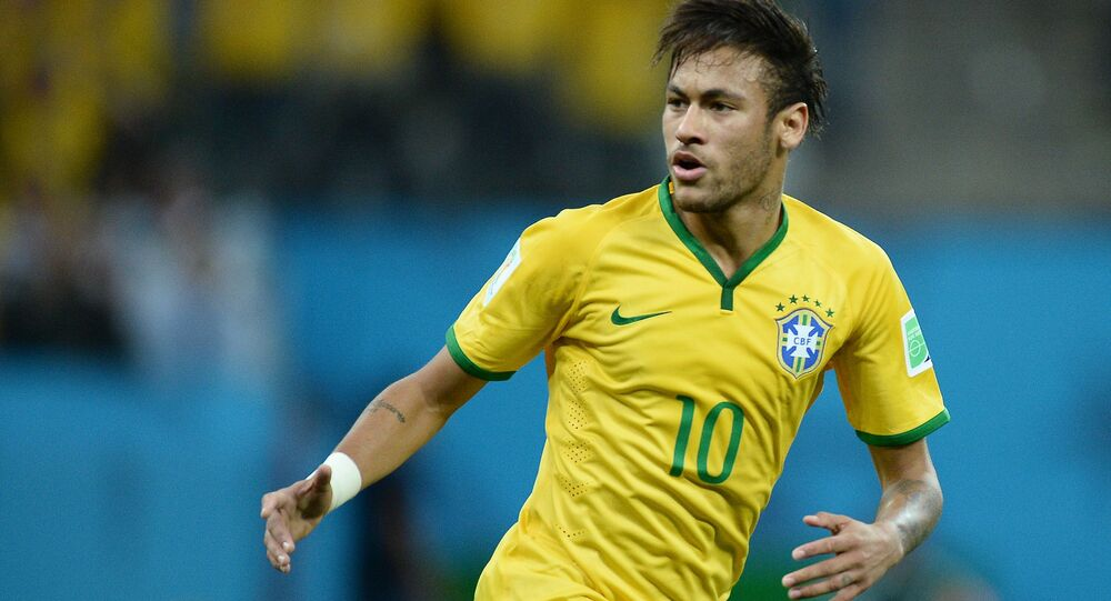 Piłkarz reprezentacji Brazylii Neymar
