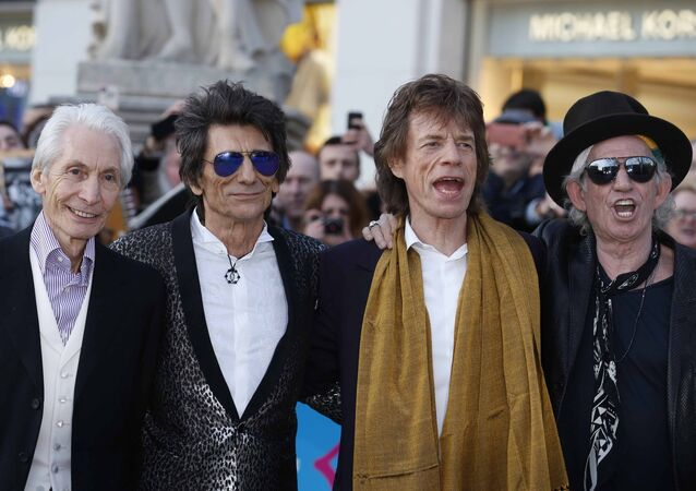Rolling Stones: Charlie Watts, Ronnie Wood, Mick Jagger i Keith Richards
