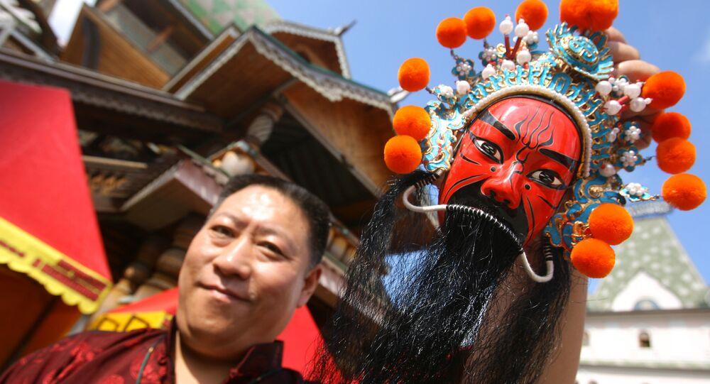 Uczestnik Jarmarku rzemiosł z Chin