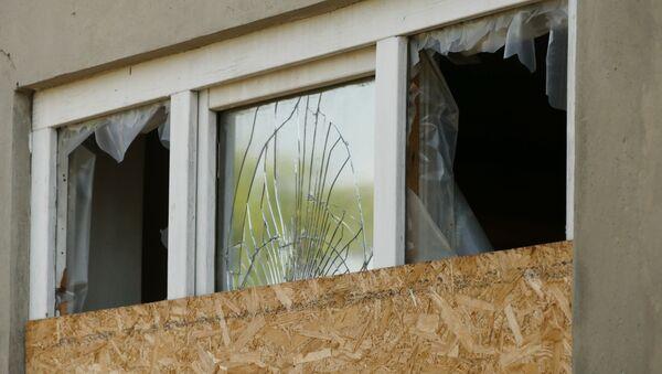 Zniszczenia na linii demarkacyjnej w Donbasie między miastami Jasynuwata i Awdijiwka. Zdjęcie archiwalne - Sputnik Polska