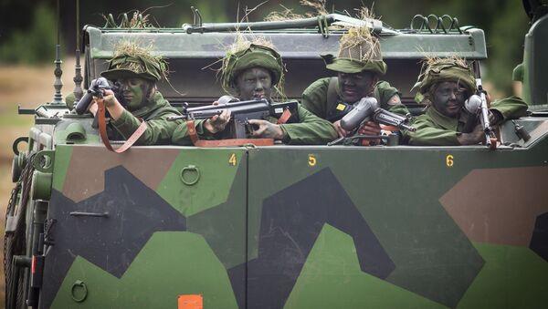 Szwedzcy wojskowi. Zdjęcie archiwalne  - Sputnik Polska