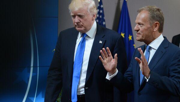Prezydent USA Donald Trump i szef Rady Europejskiej Donald Tusk - Sputnik Polska