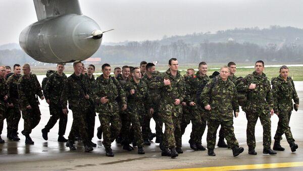 Brytyjscy żołnierze w Banja Luce. Zdjęcie archiwalne - Sputnik Polska