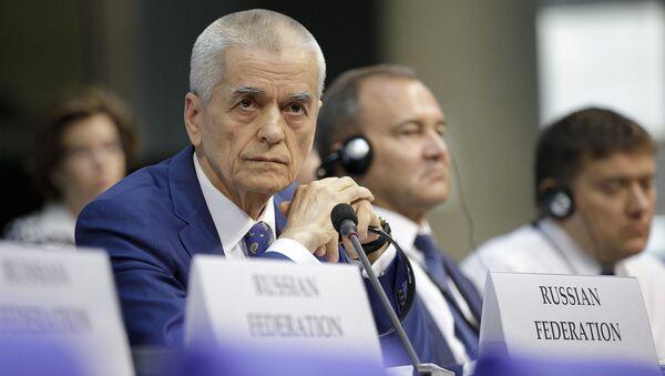 Członek rosyjskiej delegacji, wiceprzewodniczący komitetu ds. oświaty Dumy Państwowej Gennadij Onieszczenko na sesji ZP OBWE w Berlinie - Sputnik Polska