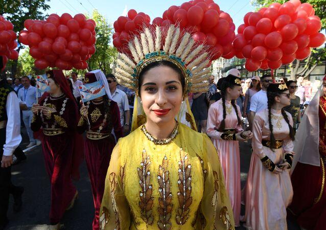Obchody 1 maja w Symferopolu
