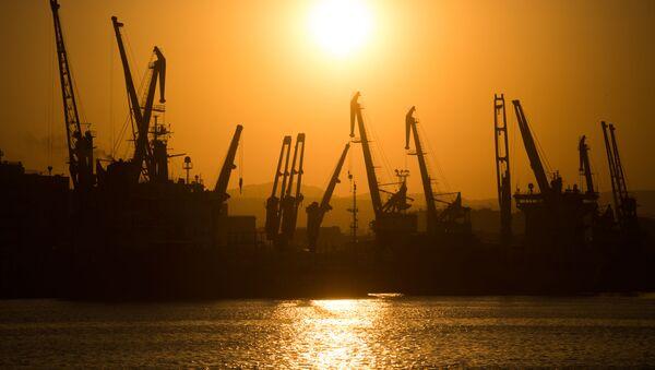 Noworosyjski morski port handlowy na Morzu Czarnym - Sputnik Polska