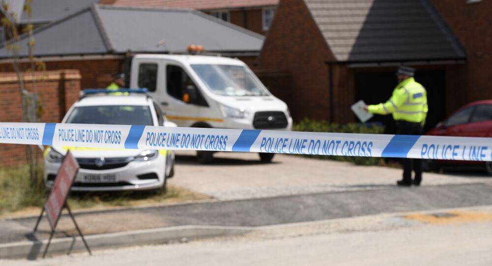 Taśma policyjna w pobliżu domu ofiary zatrucia środkiem paraliżująco-drgawkowym Charlie Rowley w Amesbury
