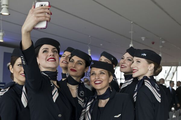 Stewardessy linii lotniczych Aegean Airlines - Sputnik Polska
