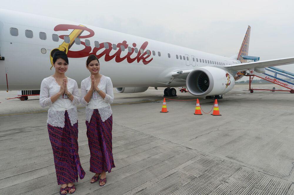 Stewardessy w Indonezji