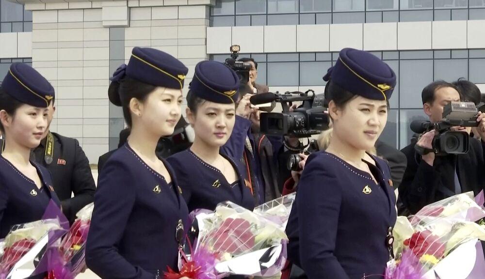 Stewardessy linii lotniczych Air Koryo