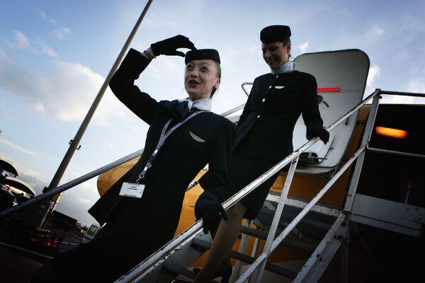 Stewardessy linii lotniczych Europe Airpost - Sputnik Polska