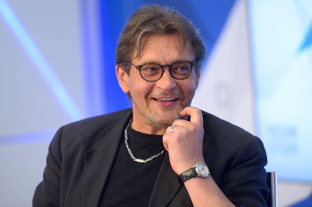 Aleksandr Domogarow na uroczystym spotkaniu z okazji 55 urodzin