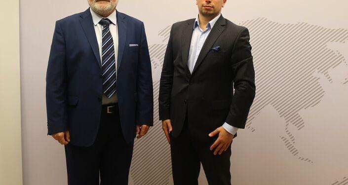 Kierownik biura PAIH w Moskwie Wojciech Kolignan i project manager Dawid Cecuda