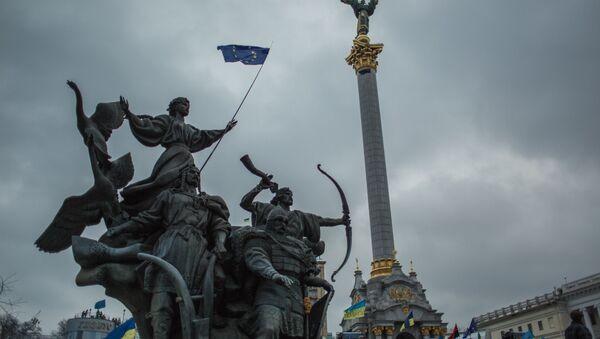 Akcja wsparcia integracji europejskiej Ukrainy na Placu Niepodległości w Kijowie - Sputnik Polska
