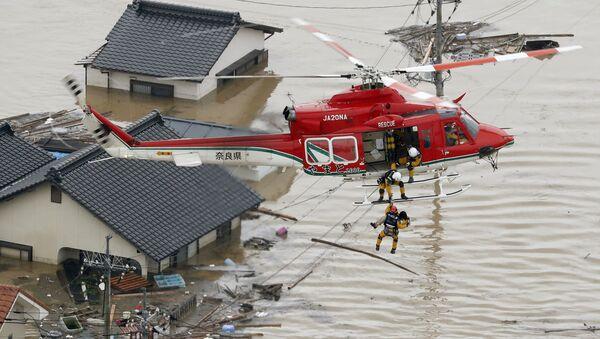 Powódź w Japonii - Sputnik Polska