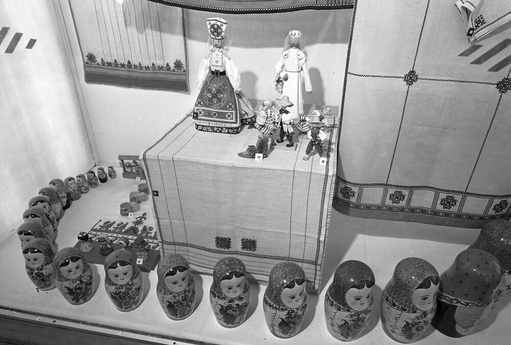 Wygląd radzieckiego stanowiska na targach przemysłowych w Hanowerze w 1973 roku