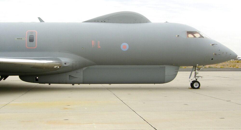 Brytyjski samolot zwiadowczy Raythen Sentinel