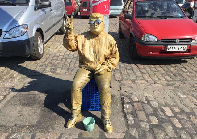 Złoty Trump w Helsinkach