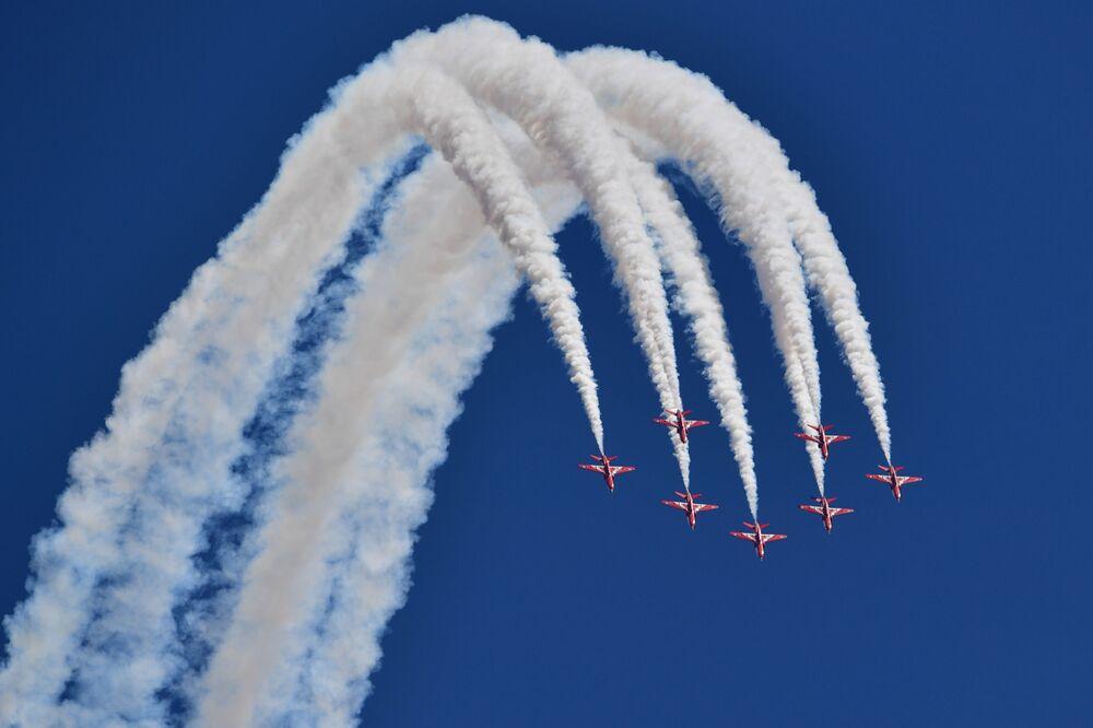 Pokaz lotniczy sił powietrznych Wielkiej Brytanii Royal Air Force