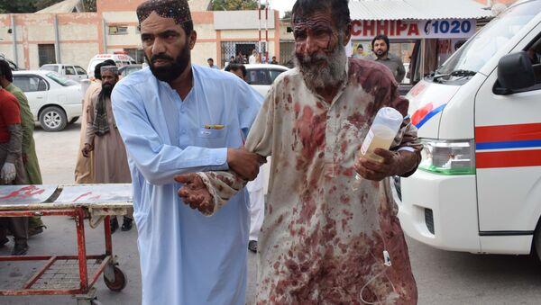 Ofiary zamachu terrorystycznego w Pakistanie - Sputnik Polska