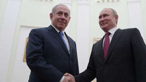 Prezydent Rosji Władimir Putin i premier Izraela Benjamin Netanjahu - Sputnik Polska