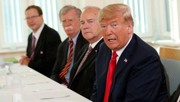 Prezydent USA Donald Trump w Helsinkach na szczycie Rosja-USA - Sputnik Polska
