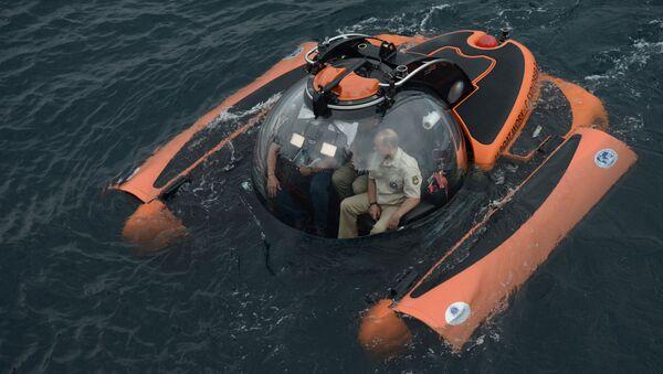 Zanurzenie się Władimira Putina w Morzu Czarnym - Sputnik Polska