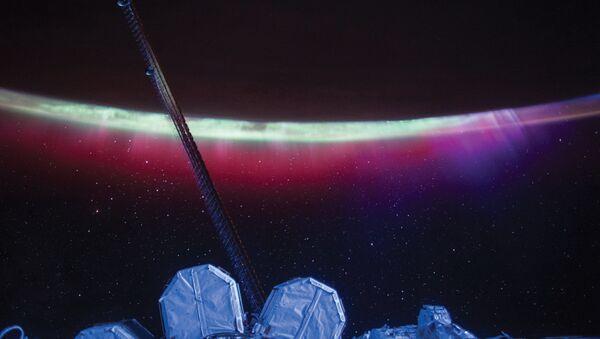 Zorza polarna z pokładu MSK - Sputnik Polska