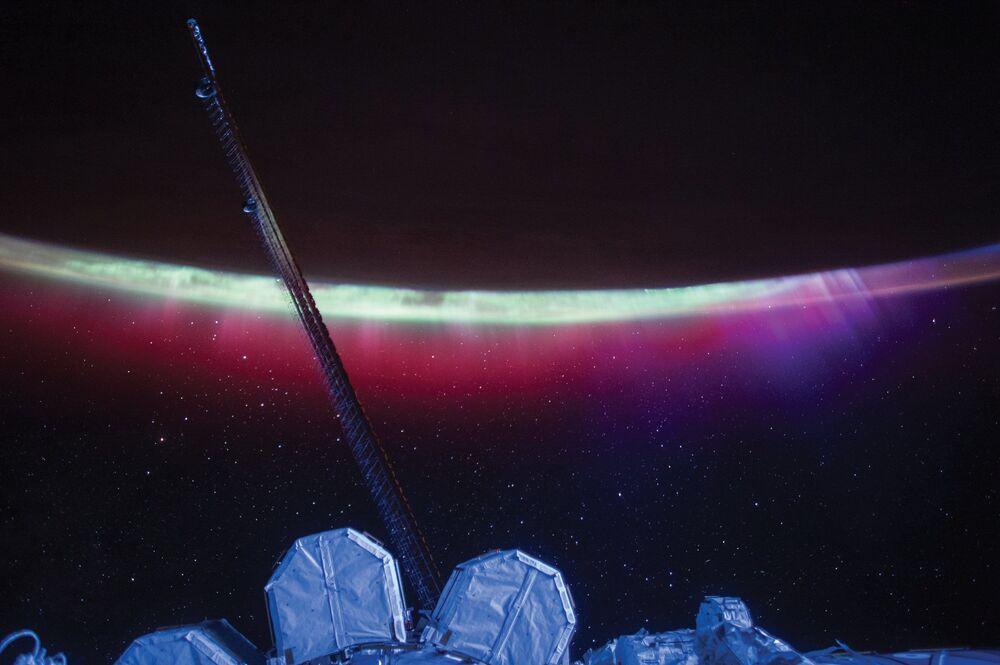 Zorza polarna z pokładu MSK