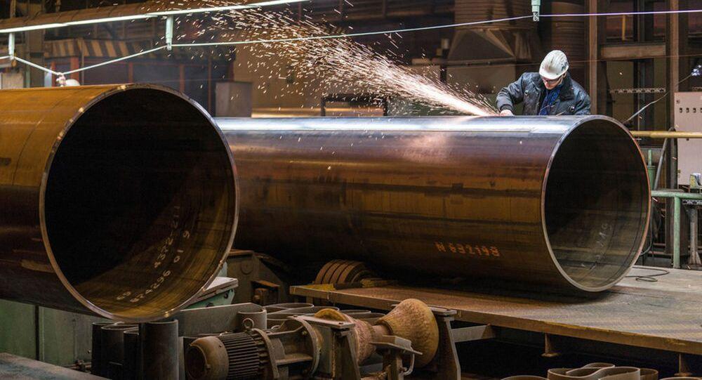 Produkcja rur dla gazociągu Nord Stream-2