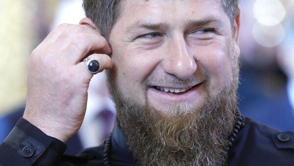 Głowa Republiki Czeczeńskiej Ramzan Kadyrow przed rozpoczęciem ceremonii inauguracji prezydenta Rosji Władimira Putina na Kremlu - Sputnik Polska