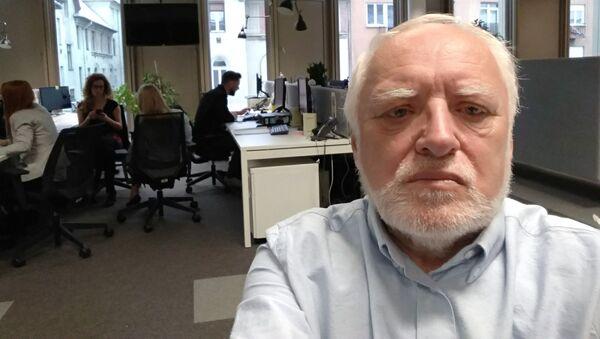 András Arató znany jako Dziwny Pan ze Stocku - Sputnik Polska
