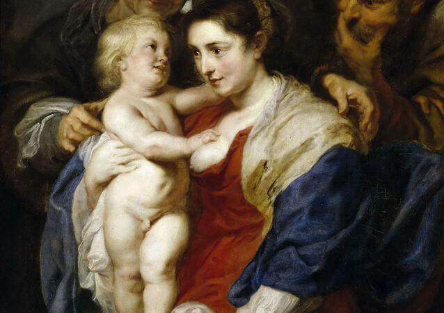 """Obraz Petera Paula Rubensa """"Święta rodzina i święta Anna"""""""