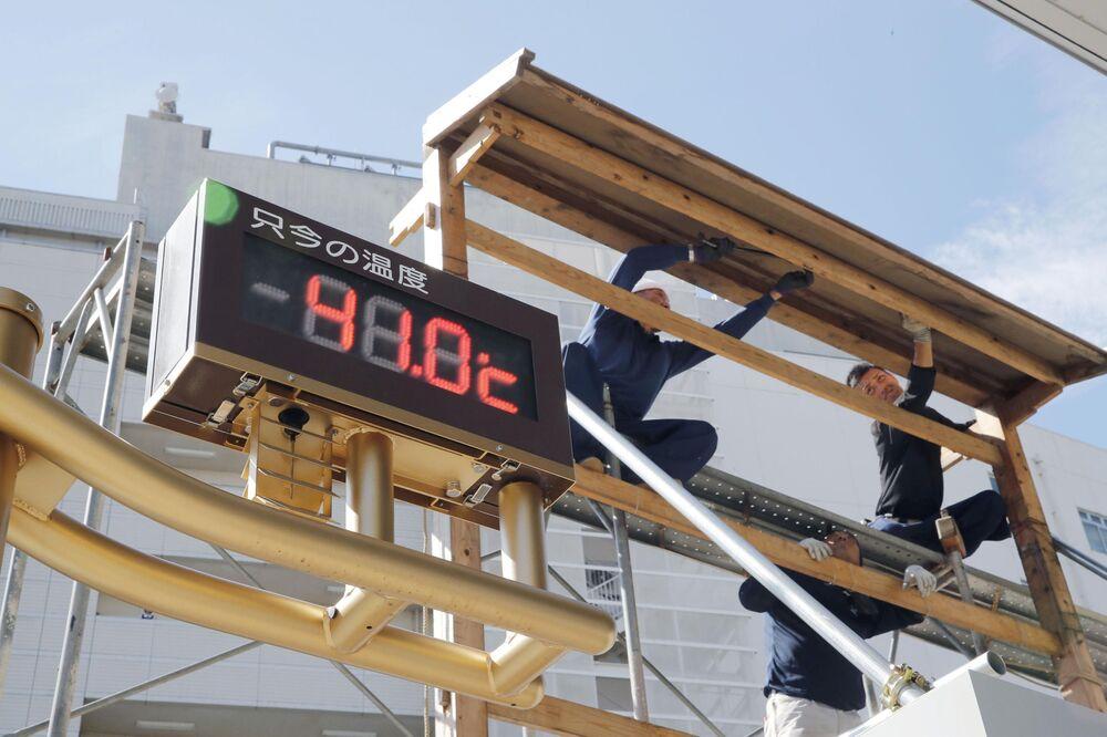 Termometr na jednej z ulic w Tokio pokazazywał 41.0 stopni Celsjusza