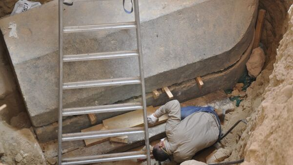 Miejsce odkrycia czarnego sarkofagu - Sputnik Polska