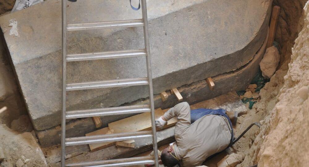 Miejsce odkrycia czarnego sarkofagu