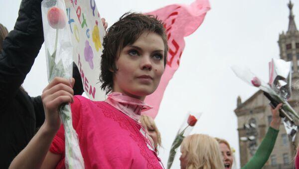 Artystka i jedna z założyciele ruchu Femen Oksana Szaczko. Zdjęcie archiwalne - Sputnik Polska