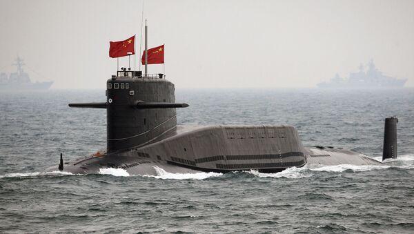 Chiński atomowy okręt podwodny. Zdjęcie archiwalne - Sputnik Polska