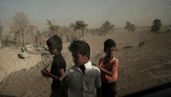 Bezdomne dzieci w Jemenie - Sputnik Polska