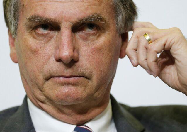 Kandydat na wybory prezydenckie w Brazylii Jair Bolsonaro